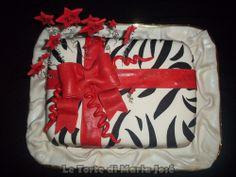 Torta pacco regalo zebrato