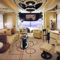Motorhome interior....Not too shabby!!