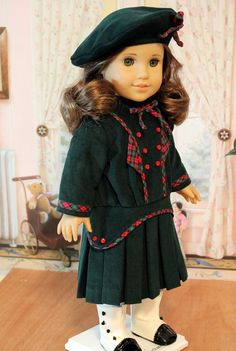 1914 Pleated Frock with Hat and Bloomers by BabiesArtUs $69
