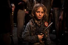 """How do you do, my name's Gavroche. These are my people, here's my patch!""    Like this if you thought Daniel Huttlestone was fantastic in Les Misérables!"