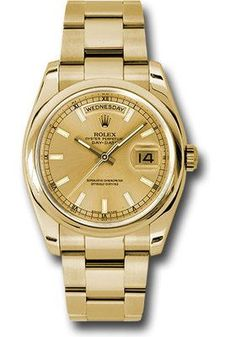 Rolex Watches: Day-Date President Yellow Gold - Domed Bezel - Oyster 118208 chso Gold Watches Women, Rolex Watches For Men, Luxury Watches For Men, Cool Watches, Men's Watches, Rolex Presidential, Day Date President, Rolex Women, Rolex Day Date