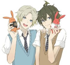 Aoi and Yoru Anime Boys, Hot Anime Boy, Manga Boy, Cartoon Pics, Cartoon Drawings, Cute Drawings, Tsukiuta The Animation, Volleyball Anime, Kawaii