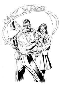 Superman Coloring Page 18