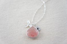 Silver personalized synthetic strawberry pink by RainRainRain, $31.00