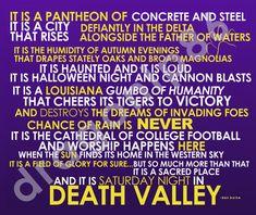 Dan Borne LSU Death Valley Quote Print by dragonlp86 on Etsy, $7.00