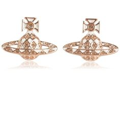 VIVIENNE WESTWOOD JEWELLERY Orb Logo Earrings ($115) ❤ liked on Polyvore featuring jewelry, earrings, logo earrings, vivienne westwood, vivienne westwood earrings, vivienne westwood jewellery and logo jewelry