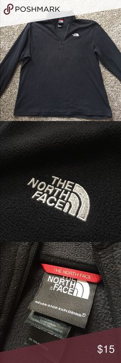 The North Face fleece pull-over Men's black The North Face pull-over, good condition, size large The North Face Sweaters