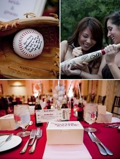 Baseball wedding ideas perfect :)