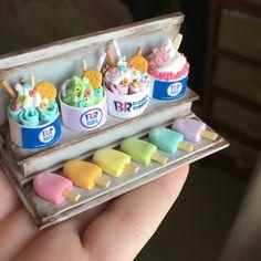 Cute Polymer Clay, Cute Clay, Polymer Clay Crafts, Miniature Crafts, Miniature Food, Diy Doll Miniatures, Barbie Food, Mini Craft, Diys