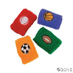 Sport Ball Wristbands. Give these fantastic wristbands as favors at your next sports-themed party. All the popular sports are represented: baseball, ...