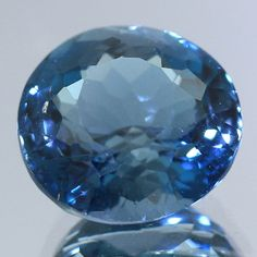 Handmade Faceted Polished Loose Semiprecious Stone Natural London Blue Topaz Round 5.77 Ct. Jewelry Supplies