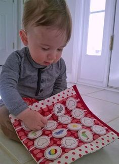 Memory game fun for babies! Baby Busy book by A Bit of Stitch