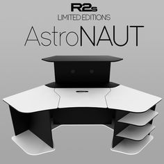 This the Limited Edition of our R2s Gaming Desk from our series with the remote lift/hide motorized mechanism for the monitors, named as R2s AstroNAUT (WB). It can support up to two (2) 24″ LCD/LED or one (1) 34″ 21:9 monitors.