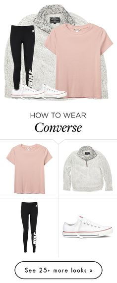 """Untitled #2502"" by laurenatria11 on Polyvore featuring True Grit, Monki, NIKE and Converse"