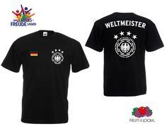 Weltmeister T-Shirt  Wappen mit 4 Sternen - Flexdruck - verschiedene Farben