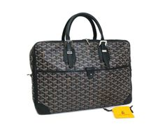 bf6efea270e Goyard Ambassade Briefcase Canvas Leather Black(BF062095). SacCuir ...