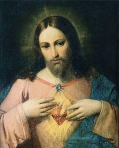 Jesus Our Savior, Jesus Prayer, Jesus Art, Heart Of Jesus, Jesus Is Lord, Jesus Painting, Heart Painting, Religious Images, Religious Art