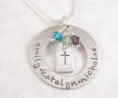 Hand Stamped Family of Faith Necklace by BarbFredinDesigns on Etsy, $52.00