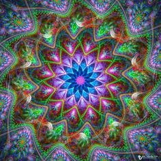 Colorful Sunday Mandala Artwork by James Alan Smith