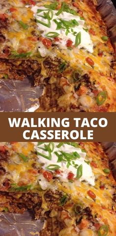 ingredients: 1 pounds ground beef large onion, chopped 1 can green chilies, small can dinner with ground beef Walking Taco Casserole Taco Casserole, Easy Casserole Recipes, Casserole Dishes, Best Mexican Casserole Recipe, Beef Dishes, Food Dishes, Main Dishes, New Recipes, Cooking Recipes