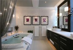 Modern and classic white lux #bathroom by Douglas Stratton  #luxbathroom
