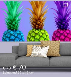 Neu in meiner Galerie bei OhMyPrints: Pineapple, colorful