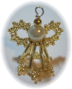 Free Beaded Victorian Ornaments Patterns | 3D Beaded Angel Pattern