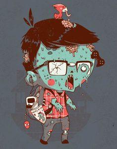 Ilustrações super fofas e com referências nerd de Michael Bisparulz