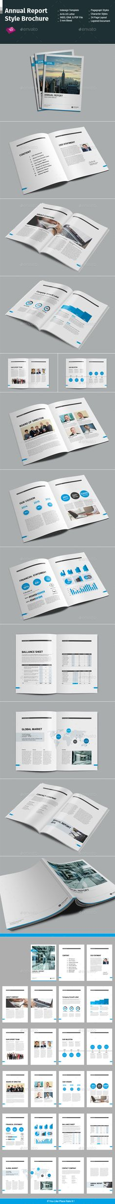 Annual Report Style Brochure Template InDesign INDD #design Download: http://graphicriver.net/item/annual-report-style-brochure-/14117921?ref=ksioks