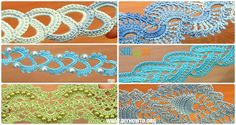 Collection of Crochet Tape Free Patterns  & Tutorials: Crochet Tape Lace, Tape Border, Lace Tape, Beaded Tape, Stripy Tape, Narrow Tape Instructions