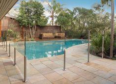 Semi frameless, stainless steel and DIY glass pool fencing by Everton Glass Pool Fencing, Glass Fence, Pool Fence, Backyard Pool Designs, Pool Landscaping, Backyard Pools, Backyard Ideas, Fence Ideas, Pool Ideas
