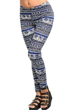 Thesecool stretch knitleggings featurea slim, stretchy fit and bold Aztec pattern print. Pair it with your favorite tee and wedges and you have an effortlessly edgy look!   Patterned Leggings by Adore Clothes & More. Clothing - Bottoms - Pants & Leggings - Leggings Washington