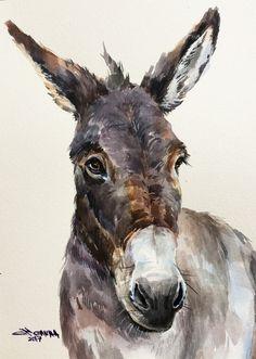 Wildlife Paintings, Animal Paintings, Animal Drawings, Watercolor Animals, Watercolor Paintings, Watercolor Paper, Baby Farm Animals, Baby Cows, Baby Elephants