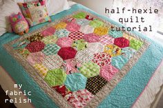 glamping half-hexie quilt tutorial