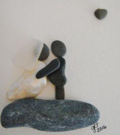 Bridal Pebble Art Collage