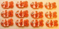 Fondant Cupcake Toppers - Clownfish