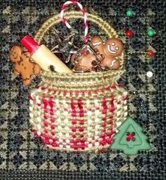 Kelly Clark Needlepoint tiny baker's basket
