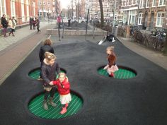 A playground has ever been regarded as a location where children, by playing, learn how to turn into non-playing adults. Designing it should be fun! At length, playgrounds have to be responsive to every child. Playground Design, Backyard Playground, Children Playground, Modern Playground, Backyard Toys, Playground Games, Urban Landscape, Landscape Design, Landscape Architecture