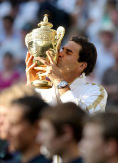 Roger Federer - always a winner in my eyes! But what was in the water at Wimbledon today? #crazy