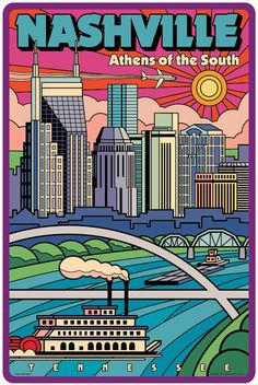 Nashville poster Nashville wall art Nashville print