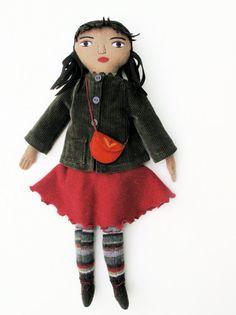 Autumn Girl wool doll via Etsy.