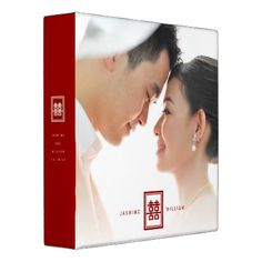 #photo - #Red Double Happiness Chinese Wedding Photo Binder