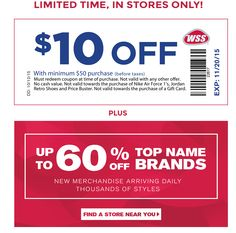 Wss shoe warehouse coupons