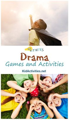 Drama games build confidence, let kids use their imagination and can serves as a foundation for theatre skills. Here are some of the most entertaining drama activities for you to try. Drama 37 Fun Drama Games and Activities Acting Games For Kids, Improv Games For Kids, Art Games For Kids, Fun Games, Theatre Games, Teaching Theatre, Drama Theatre, Teaching Art, Kids Theatre