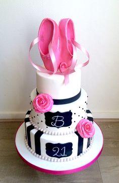 Ballet Cake Ballet cake by We Love Cakes Dance Cakes, Ballet Cakes, Ballerina Cakes, Cake Cookies, Cupcake Cakes, Little Girl Cakes, Frozen Theme Cake, Carousel Cake, Girly Cakes