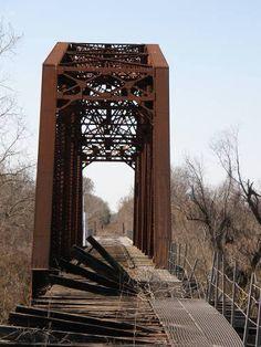 Austin County Wallis Tx Abandoned RR ThruTruss Bridge