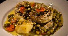 αγκινάρες με αρακά αλά μετα-πολίτα - Pandespani.com
