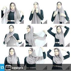 Hijab tutorial - All About Hijab Style Tutorial, Scarf Tutorial, Hijabs, Abaya Fashion, Fashion Outfits, How To Wear Hijab, Islamic Fashion, Mehandi Designs, Hijab Outfit