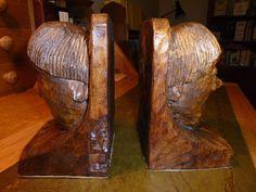 Gnomeman oak bookends
