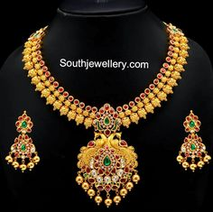 Gold Necklace latest jewelry designs - Page 26 of 71 - Indian Jewellery Designs Indian Jewellery Design, Latest Jewellery, Indian Jewelry, Jewelry Design, Indian Necklace, Handmade Jewellery, Indian Gold Necklace Designs, Kerala Jewellery, Antique Jewellery